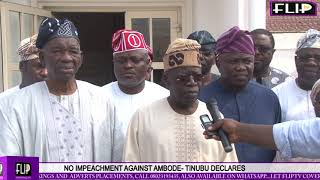Download AMBODE WILL NO LONGER BE IMPEACHED, TINUBU DECLARES Video