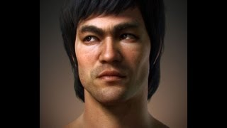 Download Making Of, a Bruce Lee portrait (3D character) Video