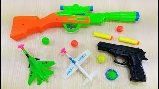 Download Colored toy guns for kids and children! Learn Colors with Box of Toys! Unboxing Colorful Toy Guns Video