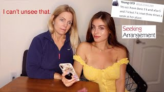 Download My MOM reacts to my NEW SUGAR DADDY messages on Seeking Arrangement 😬 Video