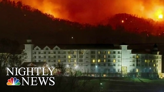 Download Tennessee Wildfires Ravage Resort Town, Leave 3 Dead; 14,000 Evacuate | NBC Nightly News Video