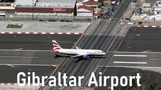 Download Dangerous Gibraltar Airport   British Airways @ Gibraltar   4K Video