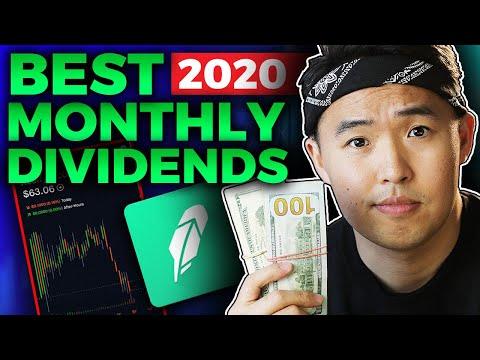 4 Monthly Dividend Stocks 2020 on Robinhood App