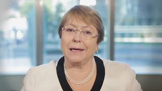Download Michelle Bachelet, Chile, reading article 7 of the UDHR in Spanish Video