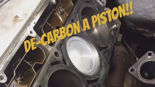 Download Cleaning Carbon Deposits off of Piston Tops / Easy!!! Video