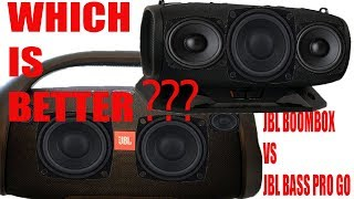 Download JBL BOOMBOX, JBL Bass Pro Go - TWO MONSTERS!!! - Comparison Video