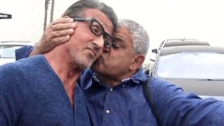 Download Sylvester Stallone Gets A Surprise Kiss At Cafe Roma Video