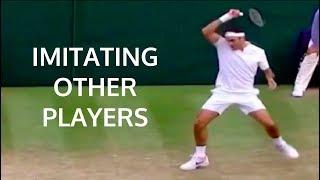 Download Roger Federer - Imitating Other Player's Shots Video