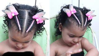 Download Peinados infantiles / media trenzas 2 cola orejas de conejita🐰 Video