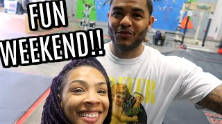 Download Fun day with Husband and Daughter! Rock Climbing, Shopping Video