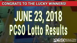 Download PCSO Lotto Results Today June 23, 2018 (6/55, 6/42, 6D, Swertres, STL & EZ2) Video