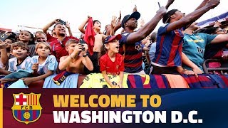 Download Over 6,000 on hand for Barça training session at FedExField in Washington Video