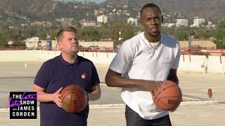 Download James Corden Challenges Usain Bolt to ALL the Games Video