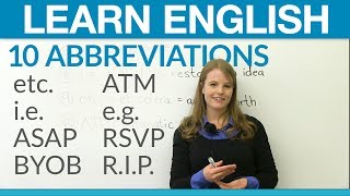 Download Learn English: 10 abbreviations you should know Video