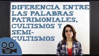 Download Diferencia entre las palabras patrimoniales, los cultismos y semicultismos Video