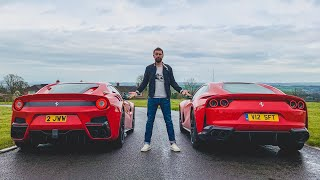 Download Ferrari F12 TDF vs Ferrari 812 Superfast Video