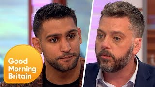 Download Amir Khan Comes Face-to-Face with I'm A Celeb Campmate Iain Lee | Good Morning Britain Video