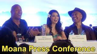 Download Disney ″Moana″ Press Conference with Dwayne Johnson, Lin-Manuel Miranda, Auli'i Cravalho, Etc. Video
