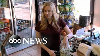 Download Blonde woman and black man steal money from deli tip jar [TIP JAR PART 1] | What Would You Do? Video