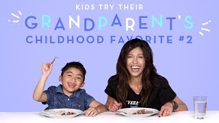 Download Kids Try Their Grandparent's Favorite Food: Round 2! | Kids Try | HiHo Kids Video