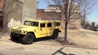 Download Driving a Huge Hummer in a Big City Video