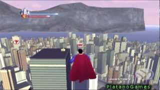 Download Superman Returns - Epic Flying Gameplay - Man of Steel Takes Flight Through Metropolis - HD Video