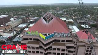 Download U.S. Eagle Federal Credit Union Sign - Crane Rental Albuquerque - Grove GMK7550 Video