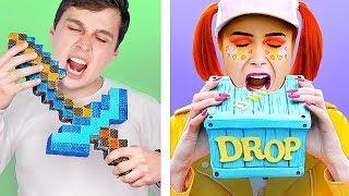 Download 10 DIY DOCES DO MINECRAFT vs DOCES DO FORTNITE! DESAFIO! Video
