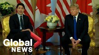 Download Trump, Trudeau meet on sidelines of NATO summit | FULL Video