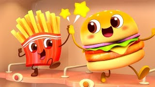 Download Cool Hamburger Vending Machine | Ice Cream, Candy Song | Kids Pretend Play | Kids Song | BabyBus Video