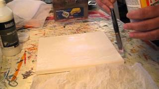 Download Texture with tissue paper Video