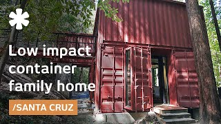 Download Shipping container family home: building blocks in Redwoods Video