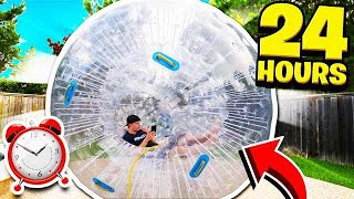 Download 24 HOUR GIANT HAMSTER BALL CHALLENGE! Video