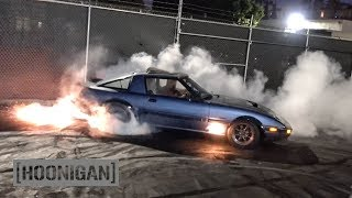Download [HOONIGAN] DT 159: 400hp Turbo 13B Rotary FB RX7 by Angel Motorsports Video