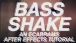 Download Bass Shake - Adobe After Effects tutorial Video