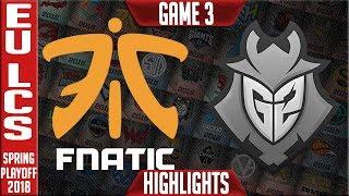 Download FNC vs G2 Highlights Game 3 | EU LCS Grand Final Playoffs Spring 2018 | Fnatic vs G2 Esports G3 Video