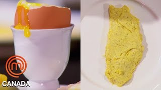 Download An Omelette, Poached Egg & Soft Boiled Egg In 8 Minutes! | MasterChef Canada | MasterChef World Video