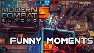 Download Modern Combat 5 'FUNNY MOMENTS' (Trolling Noobs,Epic kills,Dating with morph) !!! Video