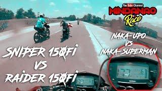 Download 177+KPH RAIDER 150 FI (NAKADAPA) VS SNIPER 150FI (NAKAUPO) Video