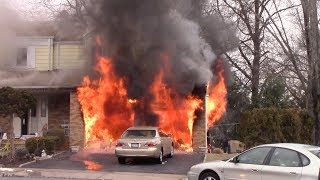Download Clifton Fire Department 2nd Alarm Fully Involved Attached Garage Fire Coppola Ct 2-10-18 Video