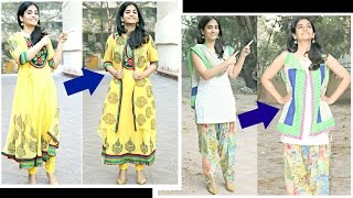 Download Make jackets for anarkalis and salwar kameez from dupattas- No sewing method Video