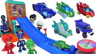 Download PJ Masks! Breathtaking obstacle Jump track die cast playset play with disney cars! - DuDuPopTOY Video
