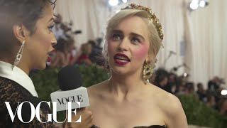 Download Emilia Clarke on the Final Season of Game of Thrones | Met Gala 2018 With Liza Koshy | Vogue Video