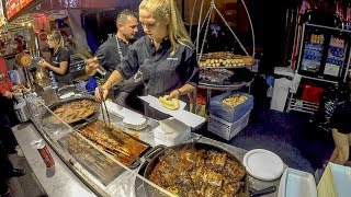 Download Best of Poland Street Food. 'Swieżonka', 'Bigos' and More Meat on Grill Video