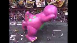 Download Barney Attacks Macy's Day Parade Video