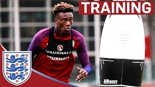 Download Shooting Drills with Rashford, Vardy and Abraham Vs Joe Hart | Inside Training Video