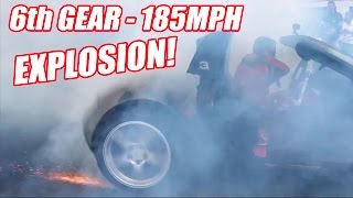 Download 6th Gear Burnout Has INSANE Tire Explosion! Video