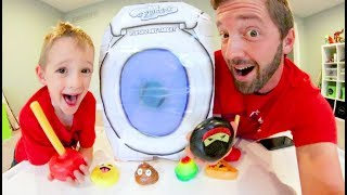 Download Father & Son STICKY NINJA TARGET PRACTICE! / Plungers, Pizza, & More! Video