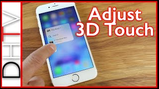 Download How To Turn On/Off 3D Touch Or Customize The Sensitivity - iPhone 6s & iPhone 6s Plus Video