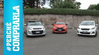 Download Citroen C1, Peugeot 108, Toyota Aygo (2014) | Perché comprarle e... perché no Video